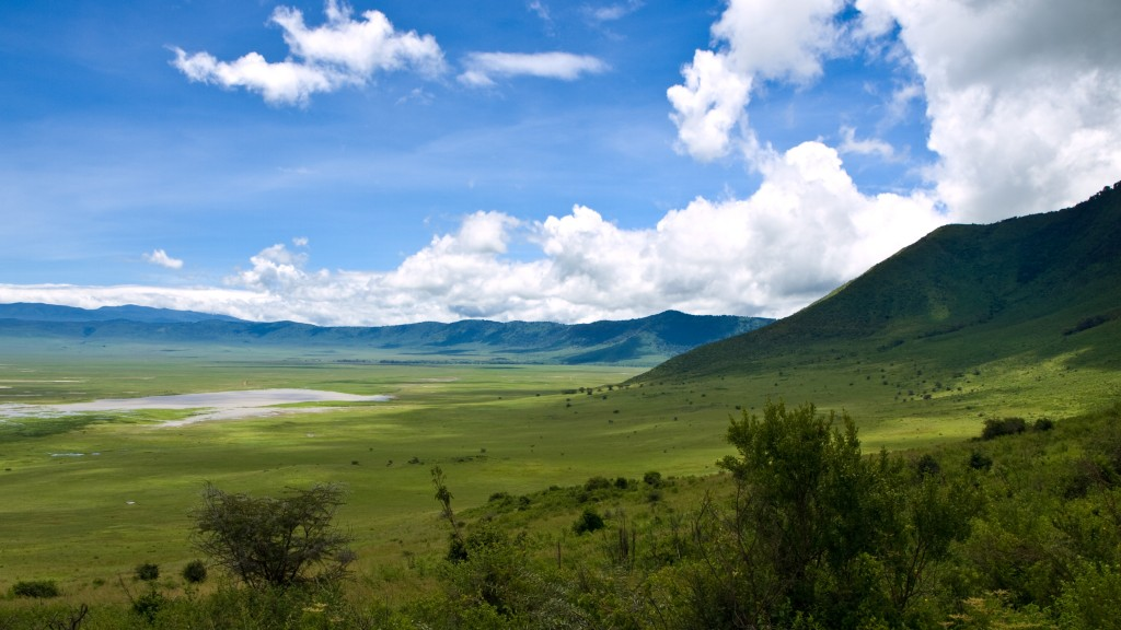 Landscape of the ridge at the edge of the Ngorongoro Crater, Tanzania